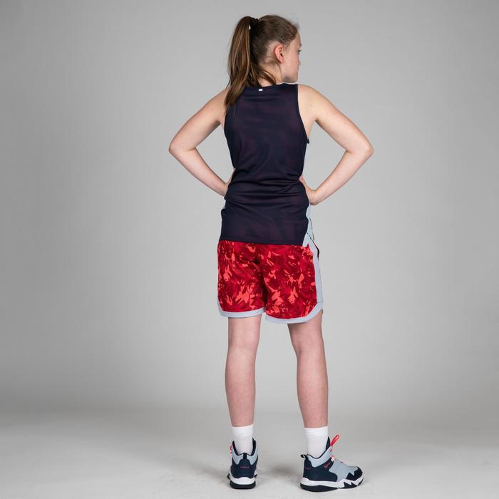 Wendeshorts Basketball SH500R Kinder Fortgeschrittene rosa/blau