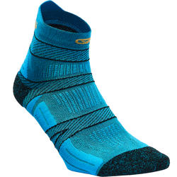 RUNNING SOCKS WITH FINE STRAPS - BLUE