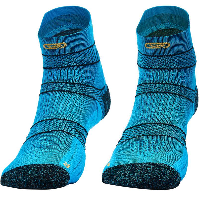 RUNNING SOCKS WITH FINE STRAPS - BLUE