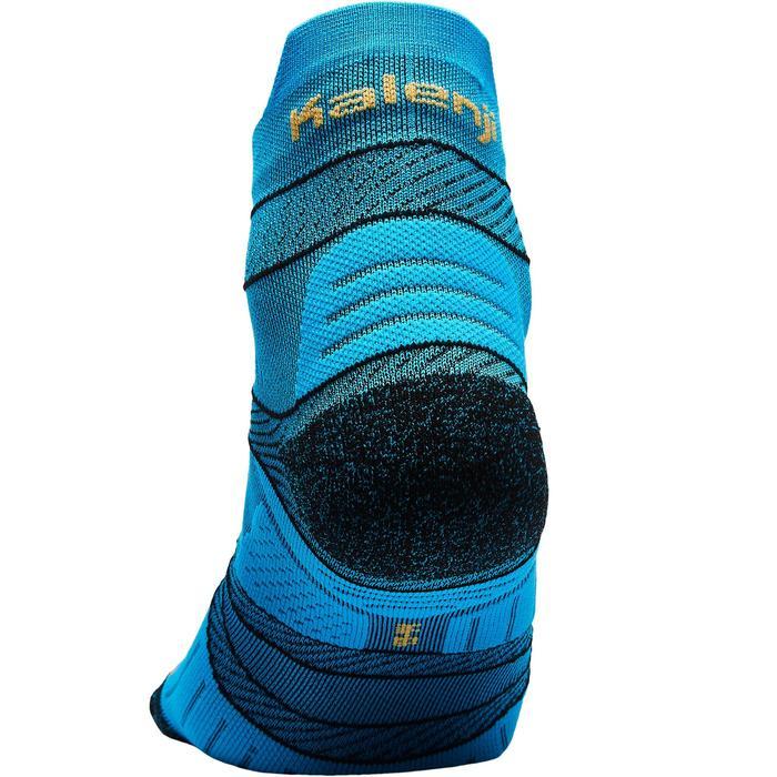Dunne hardloopsokken met strap blauw