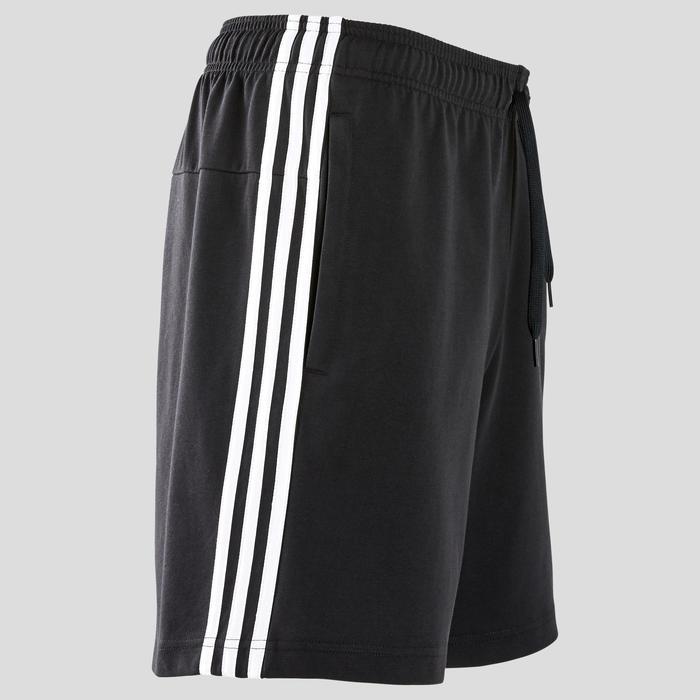 Herenshort 3S voor pilates en lichte gym regular fit zwart