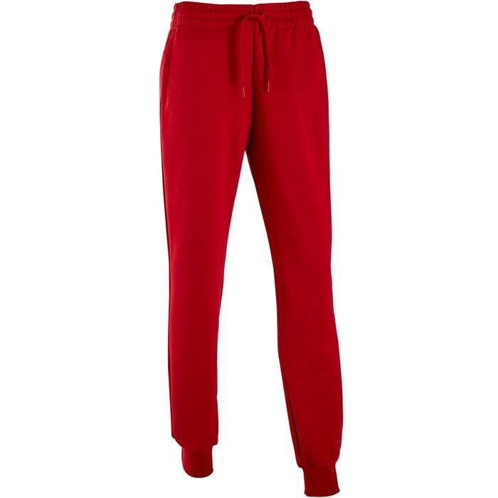 Damesbroek Linear slim fit rood