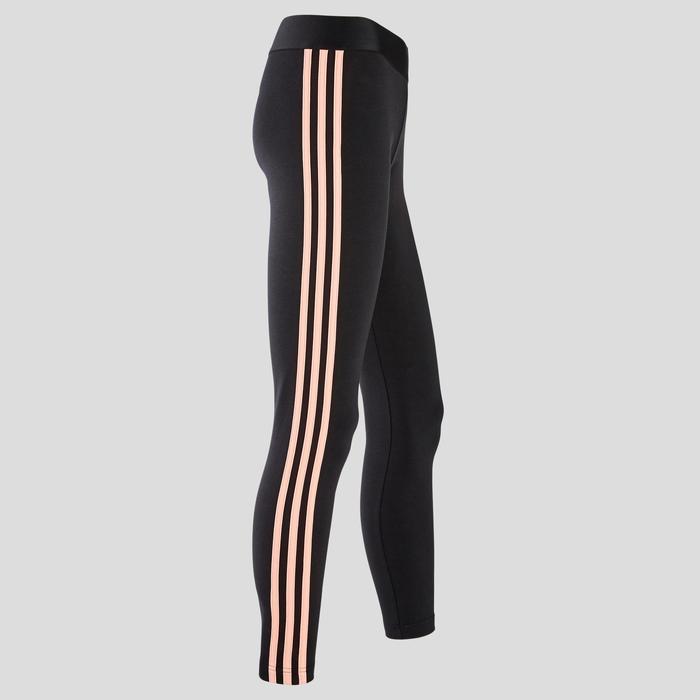 Leggings mit 3 Streifen Damen schwarz/rosa