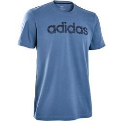 Camiseta Manga Corta Gimnasia Pilates Adidas Hombre Azul