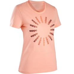 T-Shirt Regular Pilates sanfte Gymnastik Damen rosa