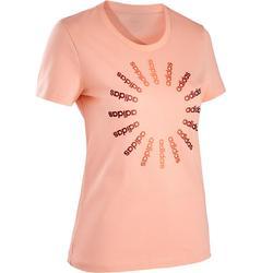 T-Shirt Regular Pilates sanfte Gymnastik Damen rosa