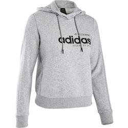Sweat Adidas capuche Pilates Gym douce femme gris