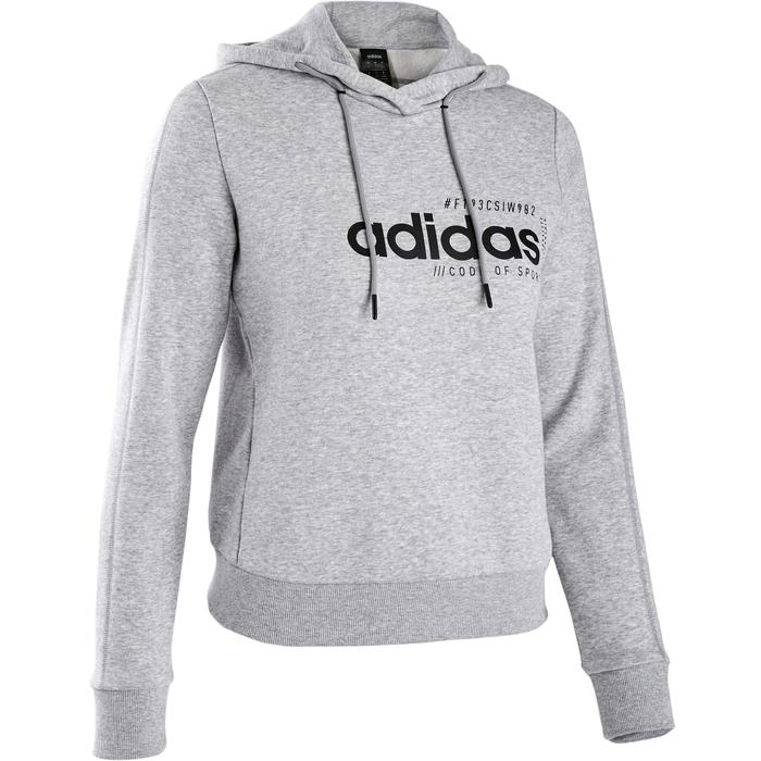 Sweat Adidas capuche Pilates Gym douce femme gris