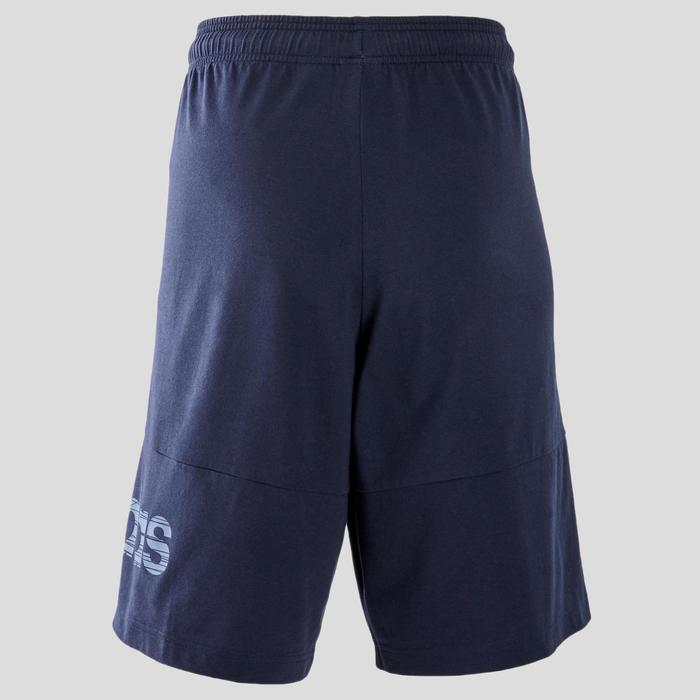 Herenshort Decadio voor pilates en lichte gym regular fit blauw