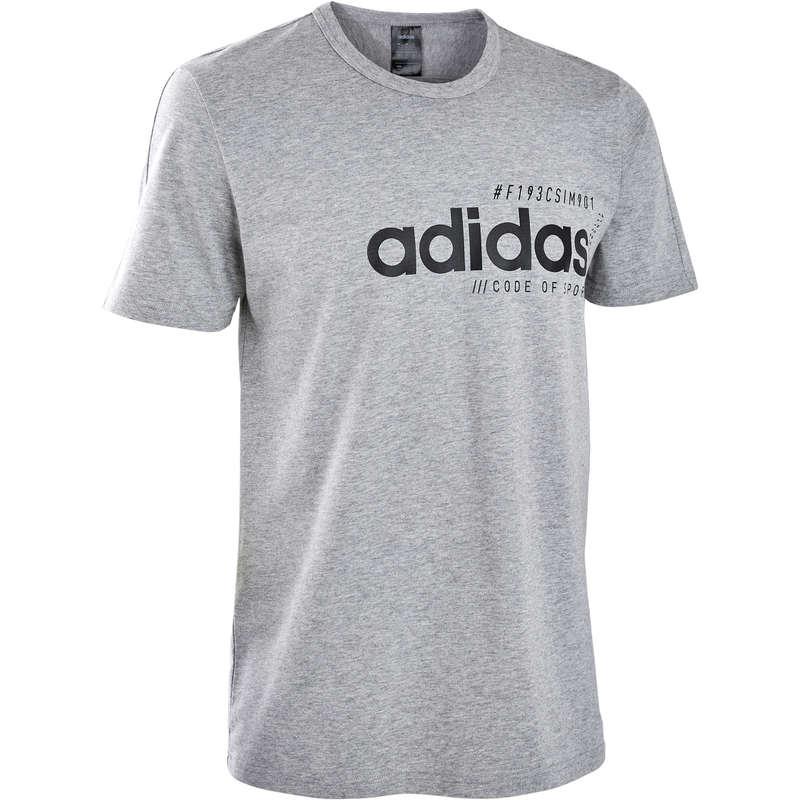 MAN GYM, PILATES APPAREL - Regular Gym T-Shirt - Grey ADIDAS