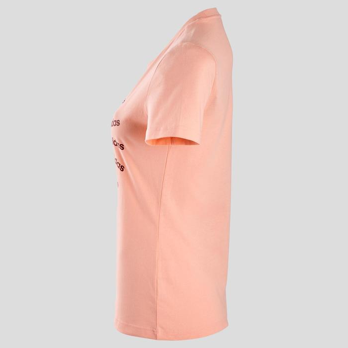 Dames T-shirt voor pilates en lichte gym roze