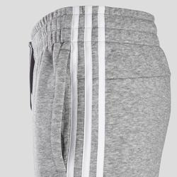 Damesbroek 3-stripes slim fit grijs