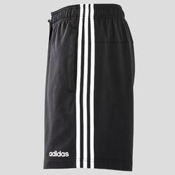 Short 3 bandes Adidas regular noir homme