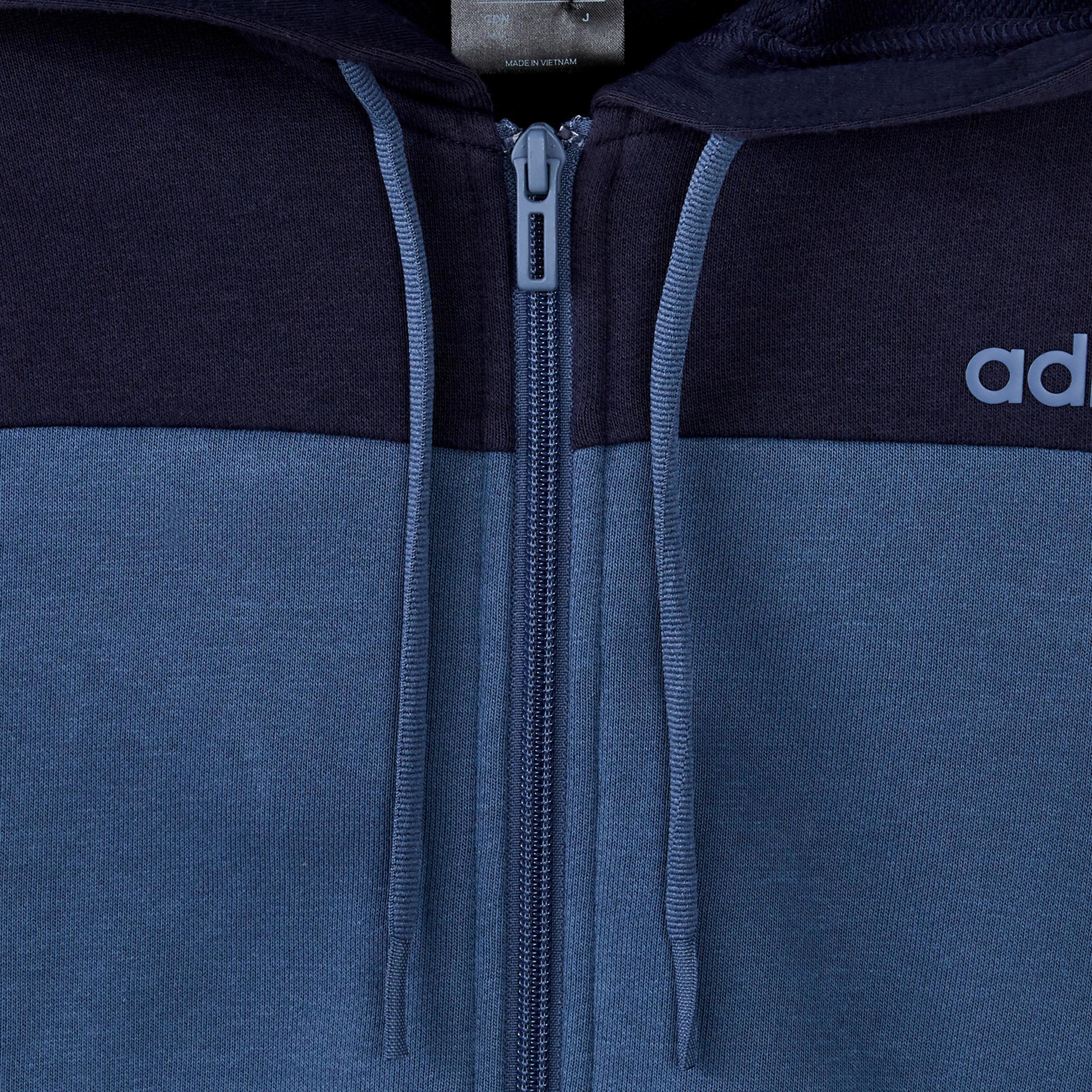 Veste de survêtement Adidas à capuche bleu