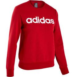 Sweatshirt Pilates sanfte Gymnastik Damen rot