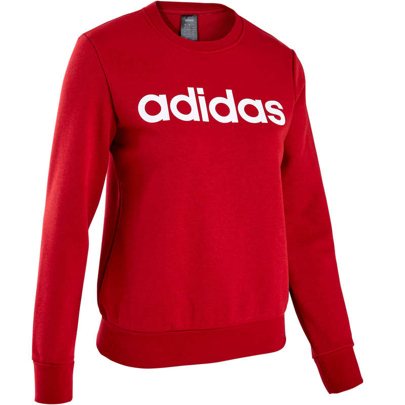 WOMAN PANT JACKET SWEAT Clothing - Gym Sweatshirt - Red ADIDAS - Tops