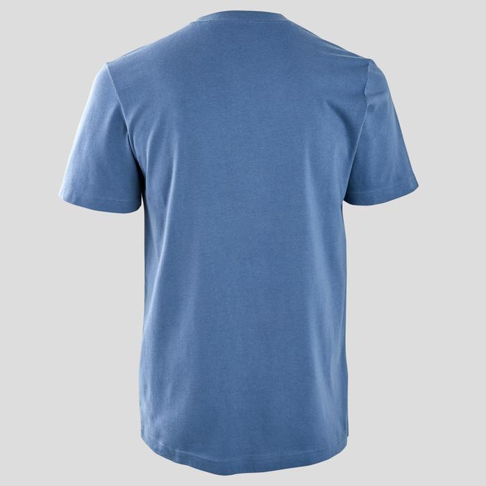 Heren T-shirt regular fit blauw