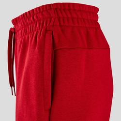 Pantalon Linear Adidas slim femme rouge