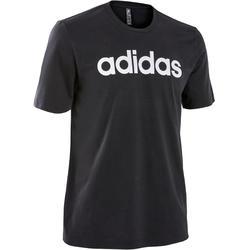 T-Shirt Linear Slim Pilates sanfte Gymnastik Herren schwarz