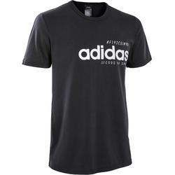 T-Shirt Regular Pilates sanfte Gymnastik Herren schwarz