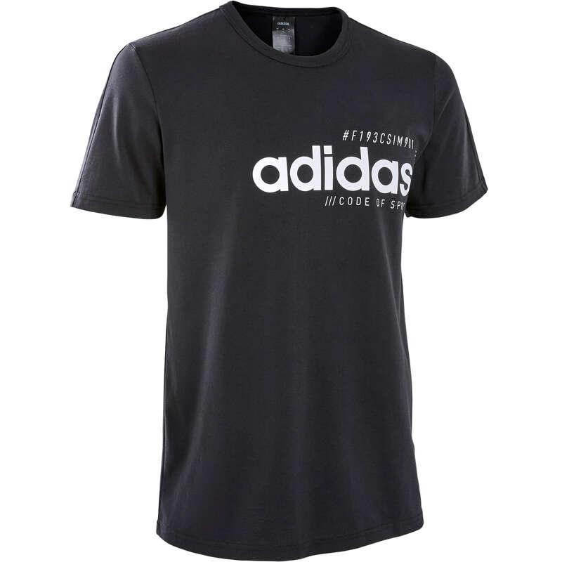 FÉRFI PÓLÓ, RÖVIDNADRÁG Pilates, torna, trambulin, gyerekjáték - Férfi póló Adidas ADIDAS - Fitness - DOMYOS