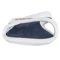 Badelatschen Slap 500 Damen weiß/blau