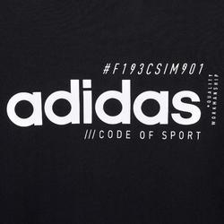 Heren T-shirt voor pilates en lichte gym regular fit zwart