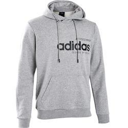 Sudadera con capucha Adidas Pilates y Gimnasia suave hombre gris
