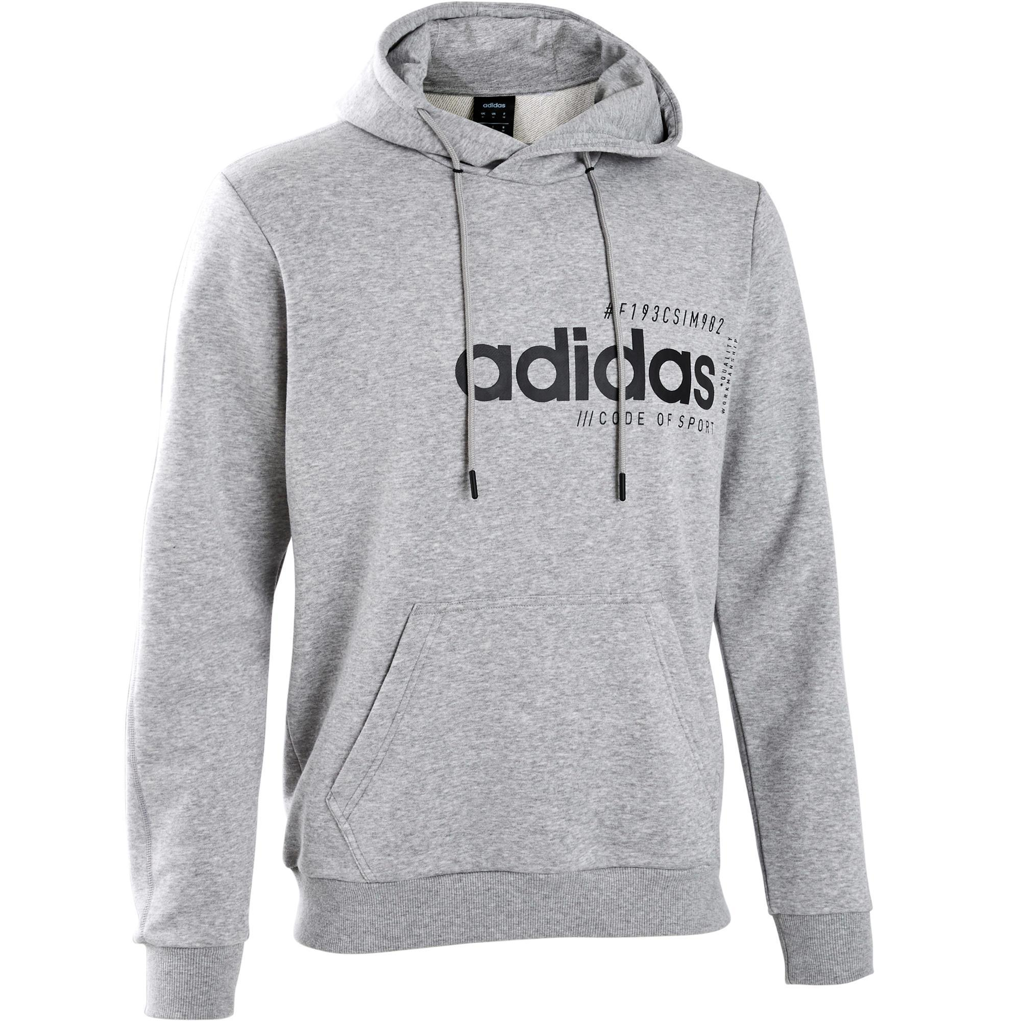detailed images wide varieties classic Sweat a capuche ADIDAS homme gris