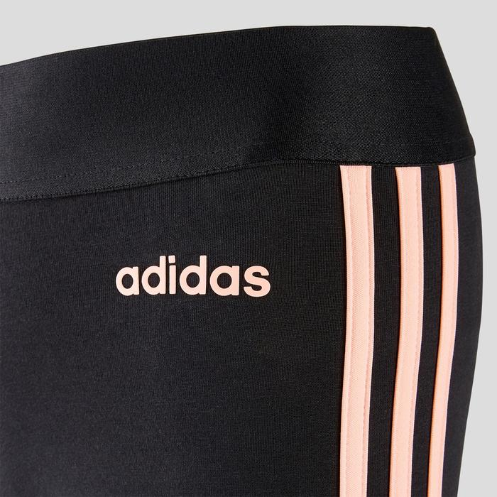 Legging 3 bandes Adidas femme noir/rose