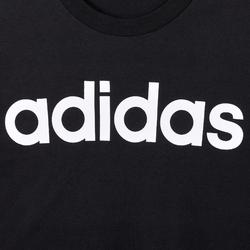 Heren T-shirt Linear voor pilates en lichte gym slim fit zwart