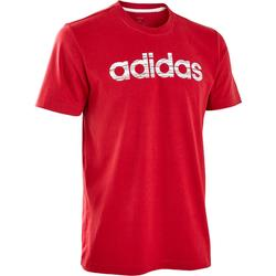 Camiseta Decadio Adidas regular Pilates y Gimnasia suave hombre burdeos