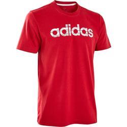 Heren T-shirt Decadio voor pilates en lichte gym regular fit bordeaux
