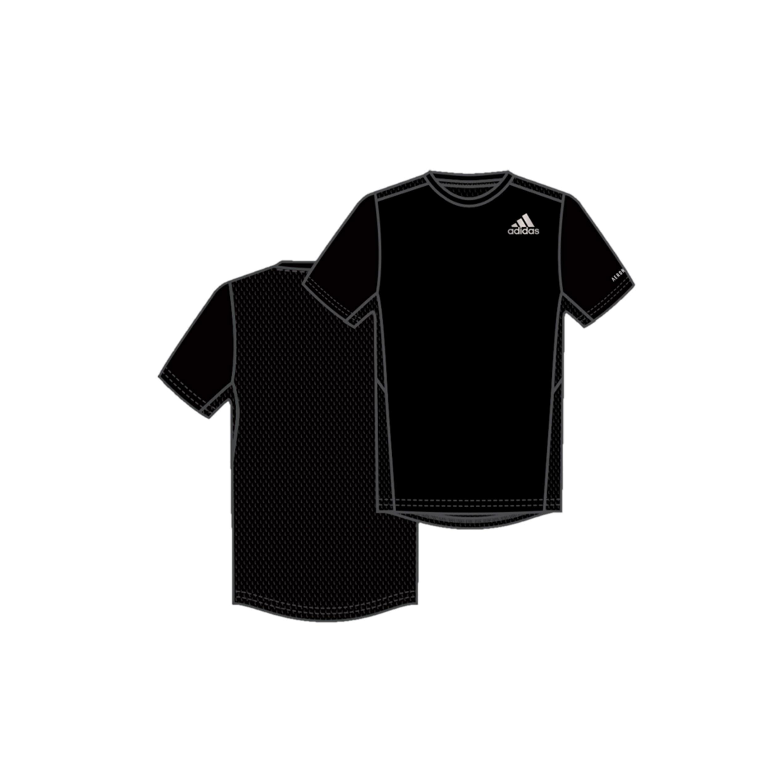 Estación Encommium científico  Camiseta manga corta Adidas Douario hombre negro ADIDAS | Decathlon