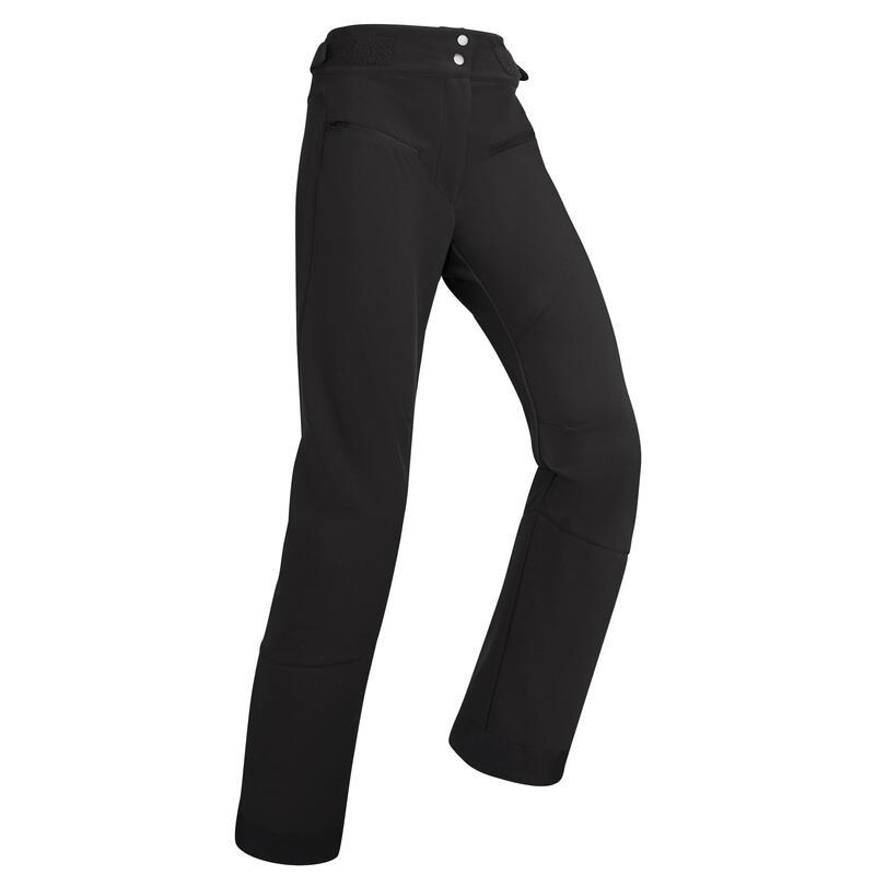 Pantalones de Esquí y Nieve Mujer Wedze Ski Pste 500 Negro