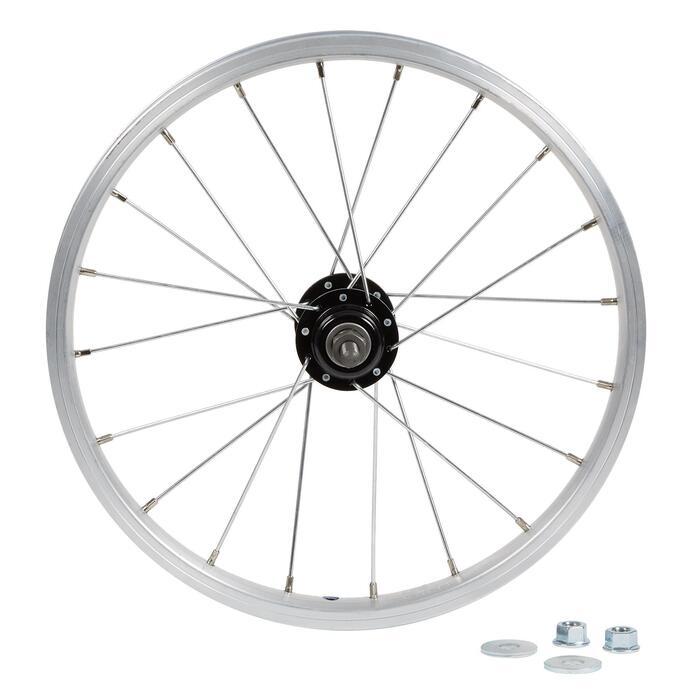 Roue vélo enfant 16 pouces arrière roue libre argent