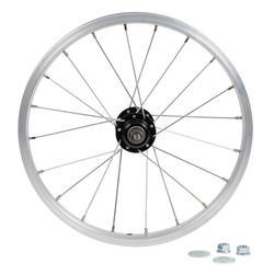 Rueda bicicleta júnior 16 pulgadas trasera rueda libre plateado