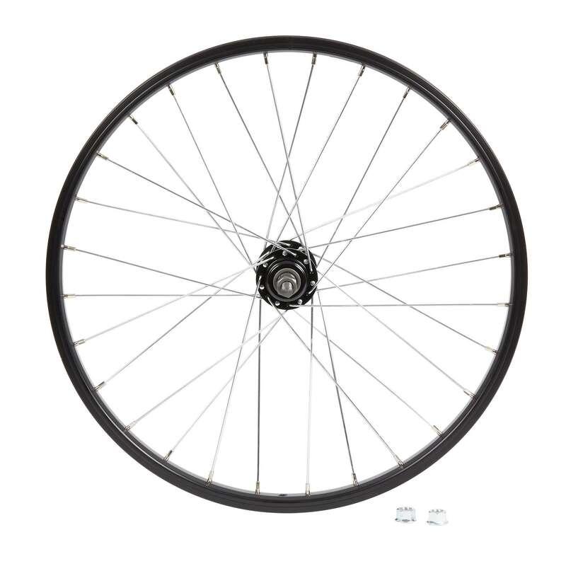 DĚTSKÁ KOLA Cyklistika - DĚTSKÉ PŘEDNÍ KOLO 20 ČERNÉ BTWIN - Náhradní díly na kolo