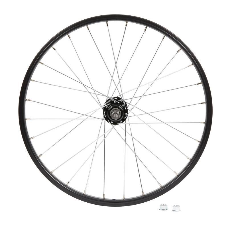 DĚTSKÁ KOLA Cyklistika - DĚTSKÉ PŘEDNÍ KOLO 20 ČERNÉ BTWIN - Náhradní díly a údržba kola