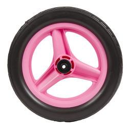 Roda 10 polegadas dianteira aprendizagem RUNRIDE rosa com pneu preto