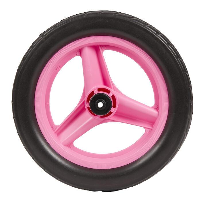 Voorwiel 10 inch voor loopfietsje RUN RIDE roze met zwarte band