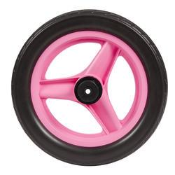 Achterwiel 10 inch voor loopfietsje RUN RIDE roze met zwarte band