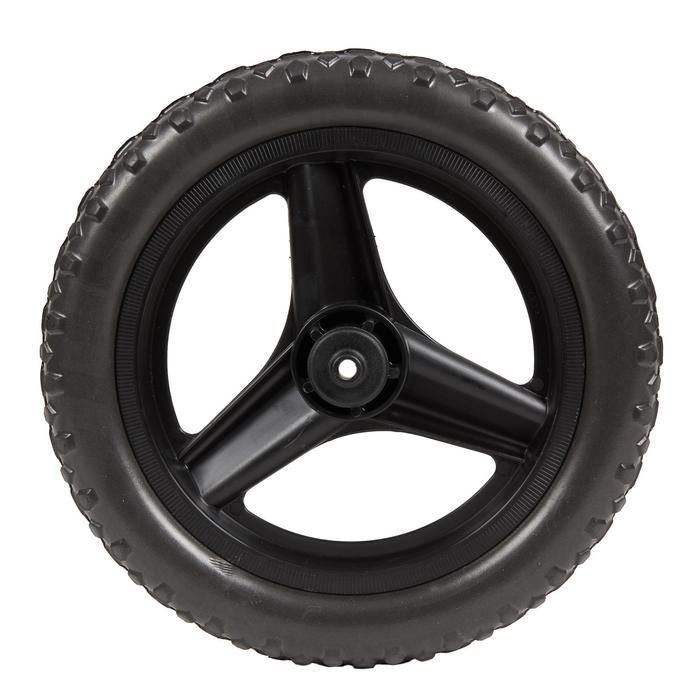 Roue 10 pouces avant draisienne RUNRIDE noir à pneu VTT noir