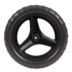 Voorwiel 10 inch voor loopfietsje RUN RIDE zwart met MTB-band zwart