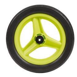 Roda dianteira 10 polegadas bicicleta aprendizagem RUNRIDE verde com pneu preto