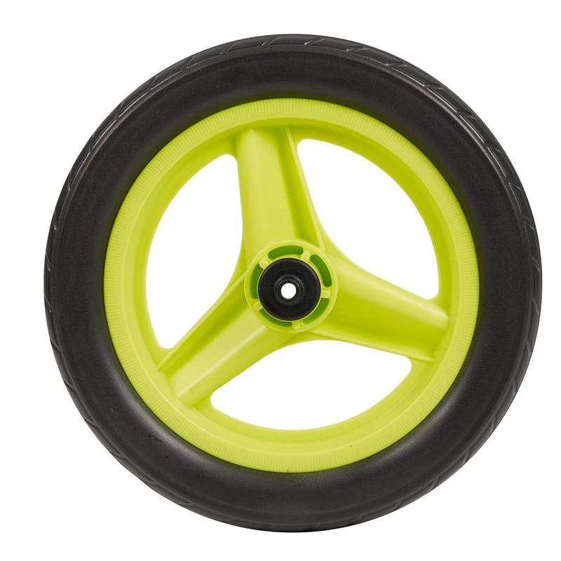 "Wheel 10"" Front Green & Tyre Black Balance Bike RunRide"