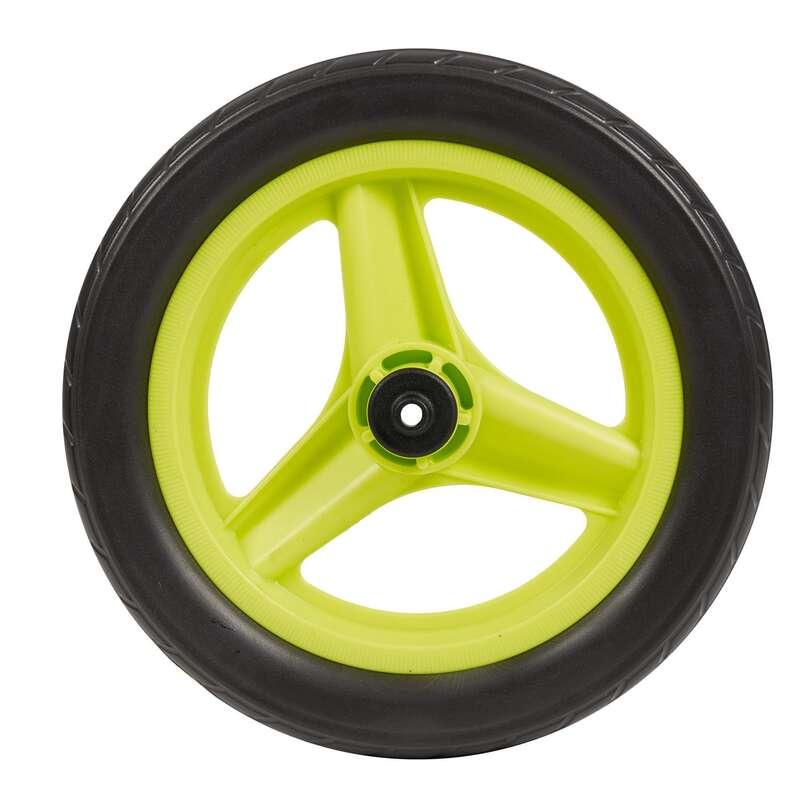 """Kerekek gyerek kerékpárokhoz Kerékpározás - Hátsó kerék 10"""", zöld, fekete BTWIN - Alkatrész, tárolás, karbantartás"""