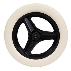 Roue 10 pouces avant draisienne RUNRIDE noir à pneu blanc