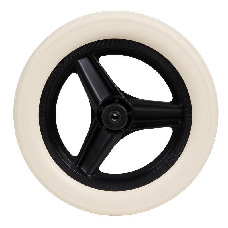 Roue 10 pouces arrière draisienne RUNRIDE noir à pneu blanc