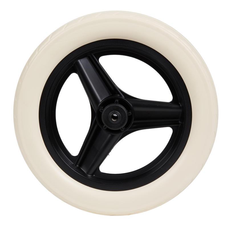 "Wheel Black 10"" Rear & Tyre White Balance Bike RunRide"